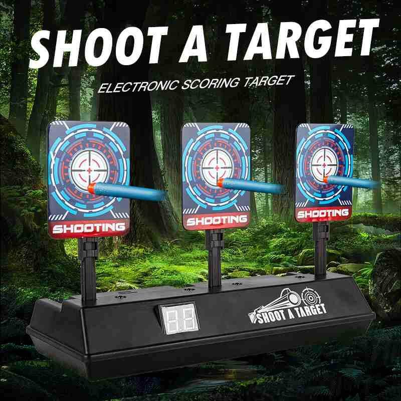 Bsex Electric Scoring Auto Reset Shooting Digital Target Game for Nerf Guns Blasters