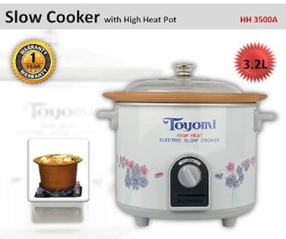 Toyomi HH 3500A Slow Cooker with High Heat Pot 3.2L 1 Year Warranty