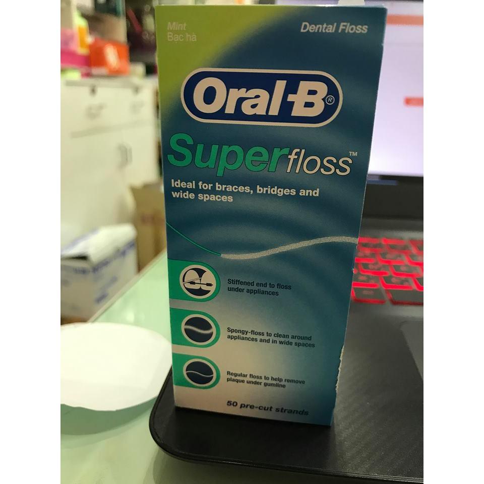 ไหมขัดฟันOral B Super Floss ผลิต02/2018