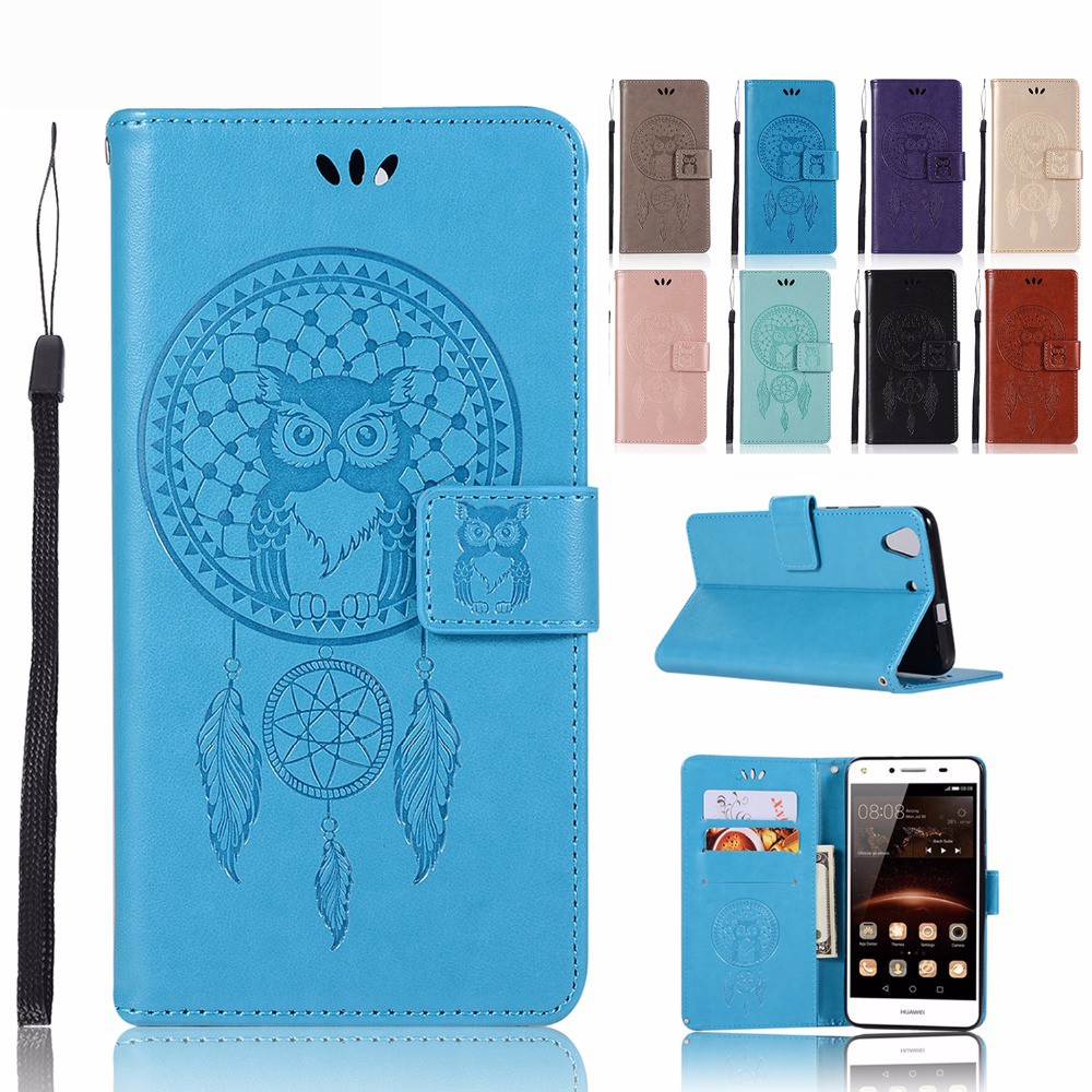 索尼Sony XZ3 XZ2 Premium手機殼時尚壓花紋貓頭鷹撲夢網風鈴磁釦翻轉皮套錢包卡包手機套