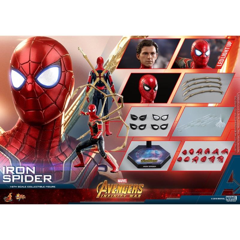 全新未拆封 Hot toys mms482 鋼鐵蜘蛛 蜘蛛人 復仇者聯盟 無限之戰 非 鋼鐵人 美國隊長 雷神索爾