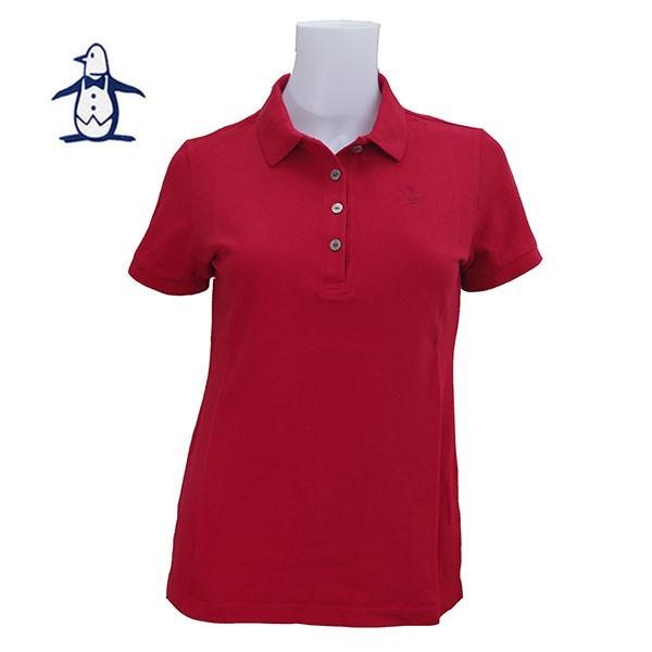 *平井涼子*日本制 企鵝 Munsingwear 經典刺繡 紅色 POLO衫