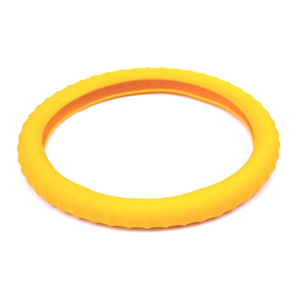 3D 矽膠方向盤套 黃