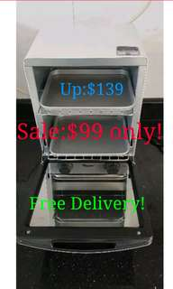 Clearance! Toaster Oven Double Layer Toyomi Kitchen Baking Cooking