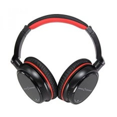 Head Bands Bluetooth Headphones Over Ear, Hi-Fi Stereo Wireless Headset, Soft Earmuffs, Built-in Mic and Wired Mode for PC, Smart Phone, Tablet and Smart TV, Includes Travel Case, HB-BT30, Red - intl