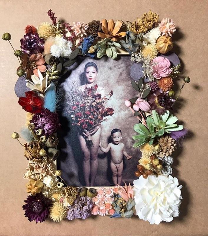 手工乾燥花相框