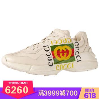 古驰GUCCI男鞋 Rhyton 系列运动老爹鞋 500877 DRW00 9522 43 500878 DRW00 9522