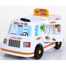 【淘氣寶寶】【如雷ROLLPLAY】兒童電動餐車 燒烤胖卡電動車