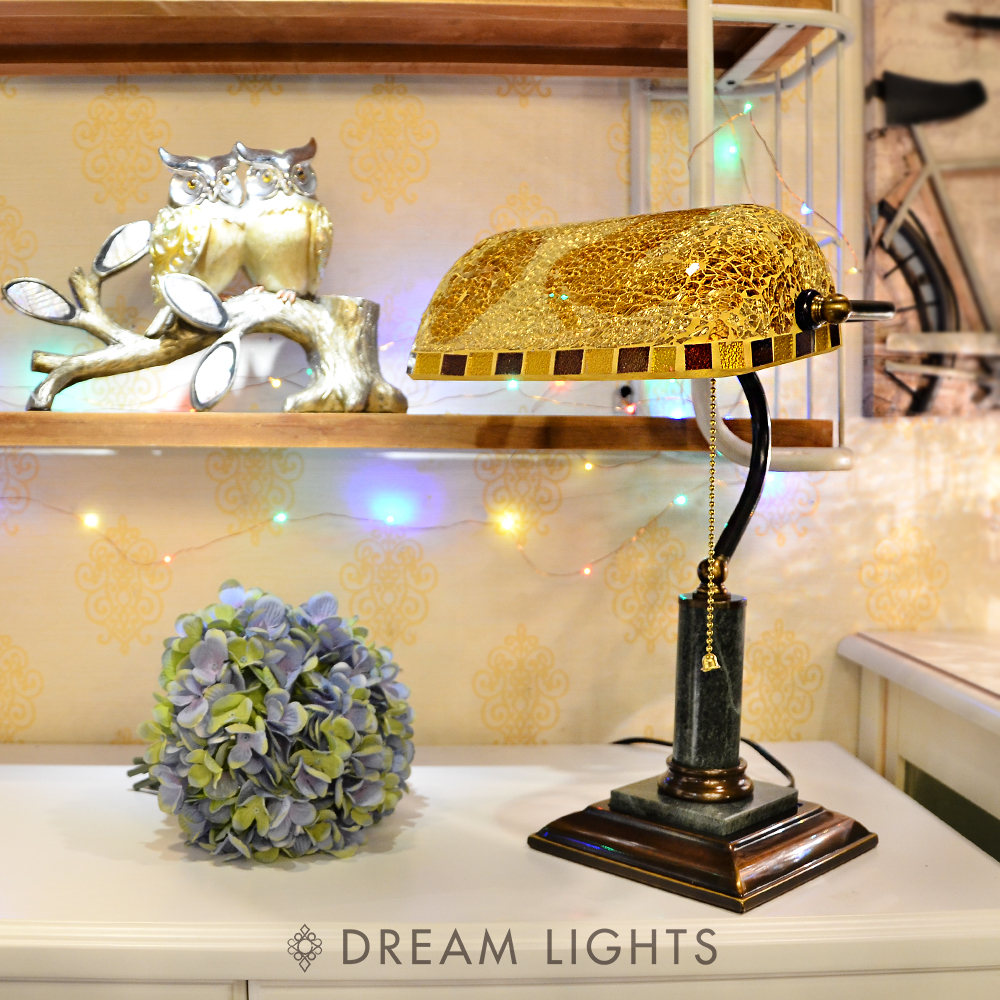 【DREAM LIGHTS】金箔桌燈|Tiffany蒂芬妮手工彩繪玻璃桌燈