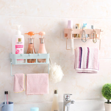 Bathroom shelf bathroom vanity toilet toilet no trace storage shelf wall hanging from punching suction wall
