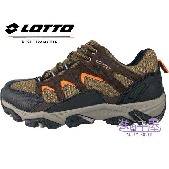 義大利第一品牌-LOTTO樂得 男款專業多功能防潑水反真毛皮郊山戶外健行鞋 SABRE系列 [5703] 咖啡【巷子屋】