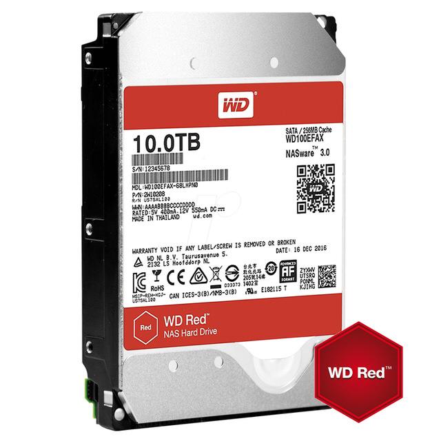 【WD 威騰】100EFAX 紅標 10TB 3.5吋NAS硬碟(NASware3.0)