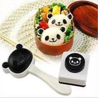 =優生活=日本料理熊貓 圓仔飯糰 便當模具組 DIY飯模 海苔壓花器 兒童最愛