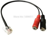 PC Computer Stereo Headset Dual 3.5mm to Cisco Phone Rj9/Rj10 Phone Adapter for CISCO IP Phone 7940 7941 7960 7961 and more