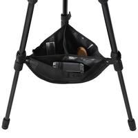 Yosoo Tripod Stone Bag, Black Universal Heavy Duty Durable Tripod Boom Stand Stabilizer Stone Bag Photography Tackle Accessory