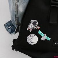訂單滿199出貨宇宙星球系列宇航員地球刺繡布貼裝飾補丁貼背膠衣服修補浩瀚宇宙