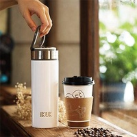 IKUK 艾可陶瓷保溫杯-大好提款520ml迷霧銀(特大容量★咖啡裝滿外帶好easy) IKHI-520SS
