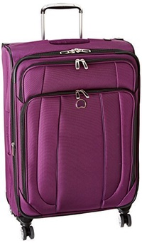 DELSEY Paris Delsey Luggage Helium Cruise 25 Inch EXP Spinner Suiter Trolley, Purple, One Size