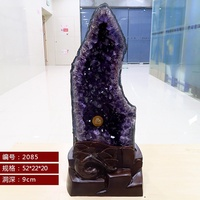 Amethyst hole natural crystal ornaments Feng Shui Crystal Cave stone natural amethyst hole cornucopi