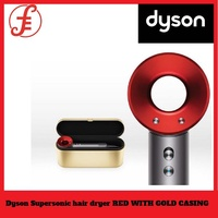 Dyson Supersonic hair dryer new model RED WITH GOLD CASING