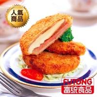 【富統食品】爆漿藍帶起司豬排/起司雞排-40片組任選(10片/盒 x4)