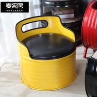 小確幸❤定制             工業風創意油桶凳卡座沙發酒吧ktv咖啡廳客廳休閑沙發椅子