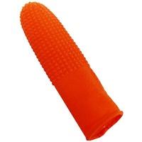【文具通】橘色 防滑 橡膠 手指套 中指 食指 適用 約7x3cm 100入 F6010471