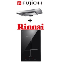 FUJIOH SLM900R SLIMLINE HOOD + RINNAI RB-3012H-CB 2 ZONE INDUCTION HOB