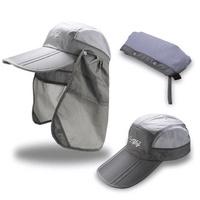 Unisex Mesh Neck Face Flap Hat Baseball Caps Outdooors Uv Proof Multifunction Visor Hat
