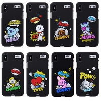 BTS BT21 NEW Official Merchandise-Comic Pops Color Soft Phone Case for iPhone