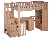 Ibenma bunk bed for 1 person with table