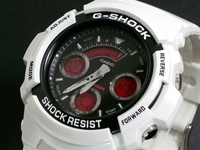 CASIO / G - SHOCK White / Red Casio Watch G - Shock Analog Digital AW - 591SC - 7 Busty Mens men s G - SHOCK
