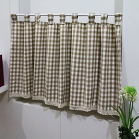 Simple double sided cotton fabric curtain partition cabinet from IKEA Bedroom curtain custom curtain