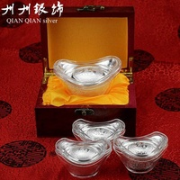 Company Annual Meeting Gift Fine Silver Game Gold Pure Silver 999 Hollow Game Gold 999 Investment Decoration Silver