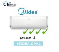 Midea OPAL SERIES [4 TICKS] System 4 Air Con  (SMKM-09 / 4 + MS40D-28 )