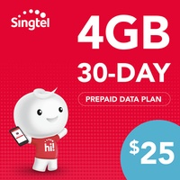 Singtel Data Package - 4GB (30 days)