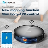 Proscenic 800T Robot Vacuum Cleaner 1800Pa Alexa App Control Big Watertank 2 in1