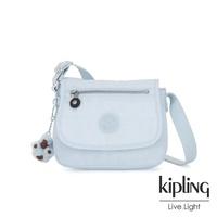 【KIPLING】棉花糖藍掀蓋側背小包-SABIAN