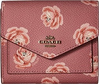 COACH Womens Small Wallet With Rose Print