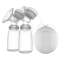 LingTud Electric Breast Pump, Portable Double / Single Quiet Comfort Breast Massager Suction For Breastfeeding