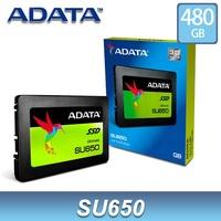 威剛 SU650 480GB 2.5吋 SSD 固態硬碟 ADATA 3D TLC 3年保 480G【每家比】