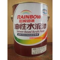 【愛漆】虹牌 有光 油性水泥漆 黑色/白色