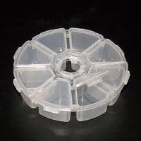 Eight Grid Circular Parts Storage Box for Screw Component IC Patch Hardware Parts