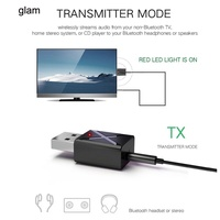 GLAM_2 in 1 USB Bluetooth 5.0 Transmitter Receiver AUX Audio Adapter for TV/PC/Car