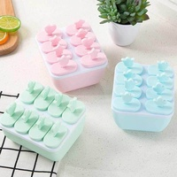 Fuan Ice Cream Popsicle Molds Cooking Tools Rectangle Shaped Reusable Ice Cream Pop Baking Molds
