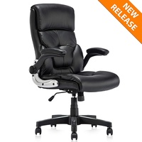 B2C2B Ergonomic PU Leather Swivel Executive Chair Home Office Computer Task Chair Adjustable Desk Chair