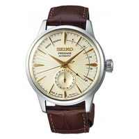 SEIKO PRESAGE COCKTAIL AUTOMATIC SSA987J1 MEN BROWN LEATHER STRAP WATCH