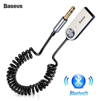 Baseus Bluetooth V5.0 Wireless USB Adapter Cable for Car 3.5mm AUX Jack Receiver