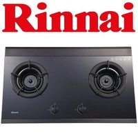 RINNAI RB-2GI 2-BURNER TEMPERED GLASS HOB