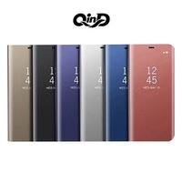 【東洋商行】Samsung Galaxy A20 A30 A40 A40s A50 A60 A70 A80 QinD 透視皮套 鏡面 側翻皮套 可立 保護套 皮套